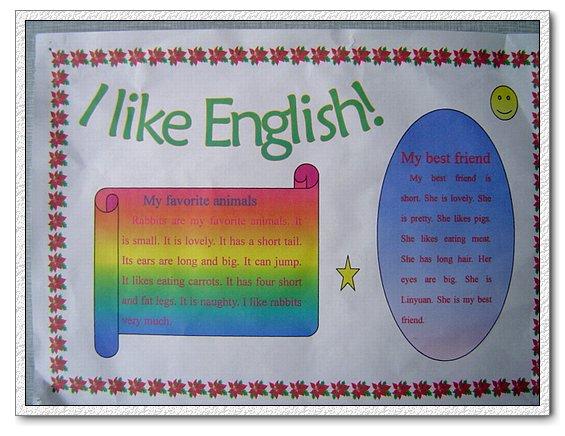 五年级英语寒假作业 英文小报 高清图片